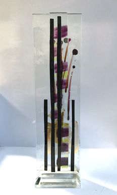 Maxence Parot - Unique Sculpture enamel and gold (Signed/Dated)