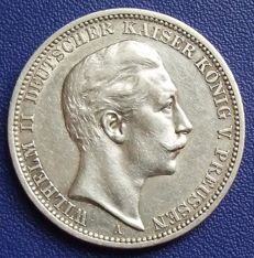 German Empire, Prussia - 3 mark 1908 A - silver