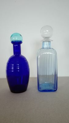 Carlo Moretti - Pair of Bottles with Stopper