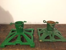 2 Art Deco Christmas tree stands