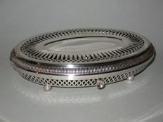 Silver plated hot plate - France