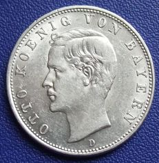 Empire, Bavaria - 2 Mark 1912 D - silver