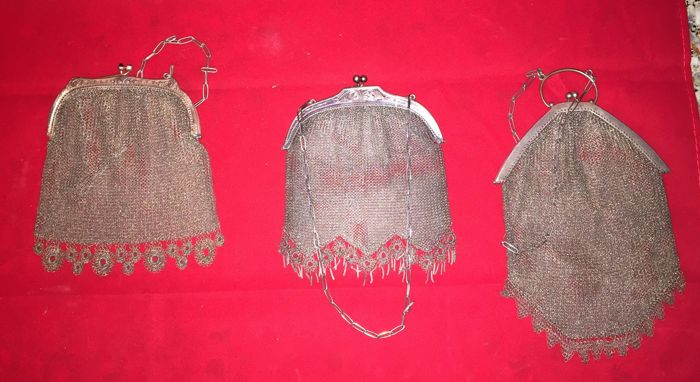 Lot of 3 sterling silver bags