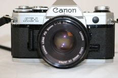 Canon AE-1 with Canon lens 1.8/50 mm