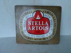 Old enamel Stella Artois sign - 1985