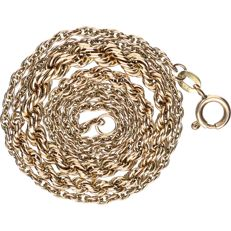 BLGG 8 kt - Yellow gold twisted link necklace with a widened central piece - length: 45.5 cm