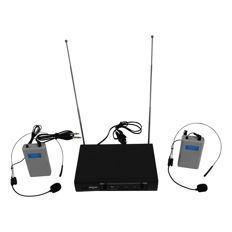 Microphones wireless 2-channel headset microphone set