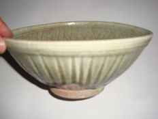 A Chinese green  celadon bowl with special design -  200 mm x 86 mm