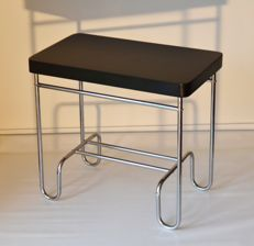 Manufacturer unknown - Vintage tubular frame radio table or table ambulante
