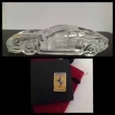 Puthod Crystal Ferrari Testarossa 24% pb plus Ferrari pin