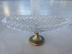 Crystal and 800 silver centrepiece