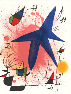Joan Miró -  Litografia originale I, III and V