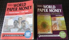 2 x World Paper Money 1368 - 1960 15Th Edition and 1961 - Present