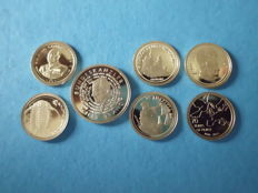World - Lot of assorted coins 2004/2016 (7 kinds) - gold