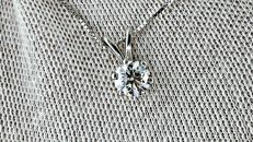 0.71  ct D/VS round diamond pendant in 14 kt white gold ***No reserve PRICE ***