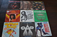 "54 dance singles of the 70""s, 80's and 90's records in NM quality, real disco music, enjoy!!"