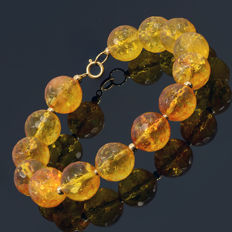 18k/750 yellow gold bracelet with citrine – Length 21 cm.