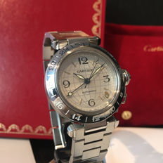 Cartier - Pasha GMT Automatic, Globe Dial - Ref.2377 Mid Size 35mm - Unisex