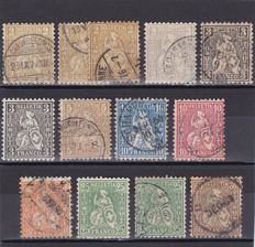 Switzerland 1862/1923 - a selection plus 2 covers and 1 postcard