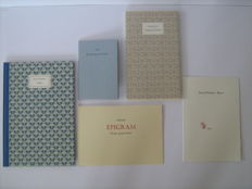 "Bibliophile; Lot with 6 limited editions of the ""Nederlandsche Vereeniging voor Druk- en Boekkunst"" (NVDB) - 1959 / 2004"