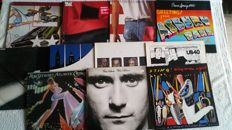 A very nice lot of 11 LP's including 1 doublealbum with great pop-rock from:*the Cars, Sting, Bruce Springsteen, Billy Joel and others. A few from the seventies but mainly from the eighties.