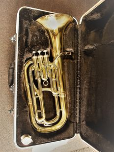 Belcanto Tuba Baritone, gold lacquered and luxurious case
