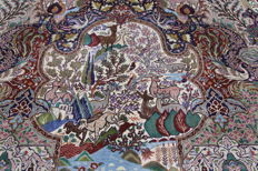 Rare Persian carpet with illustrations, Kashmar, Garden of Eden carpet, 3.85 x 3.05  paradise oriental carpet, TOP CONDITION