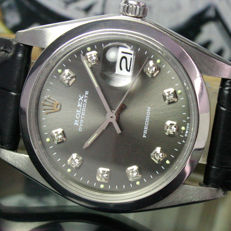 Rolex OysterDate Precision Winding Steel Mens Watch Ref 6694