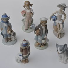 Lladro Group Figures - 6 pcs, no. 5113, 5217, 5218, 5219, 5220 & 5238