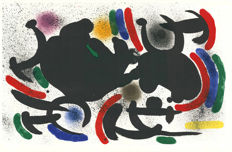 Joan Miró - Litografia originale VII, VIII, IX and X