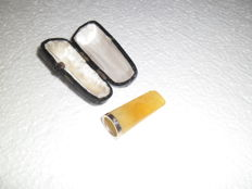 Authentic Amber cigar tip with case