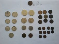 "Kingdom of Italy - Lot of 35 coins including 10 Cent ""Ape"" 1919 and 7 silver coins"