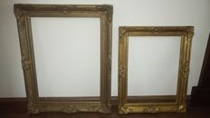 Two beautiful gold-plated Baroque picture frames