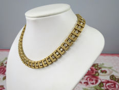 Gorgeous D'orlan goldtone-crystal necklace