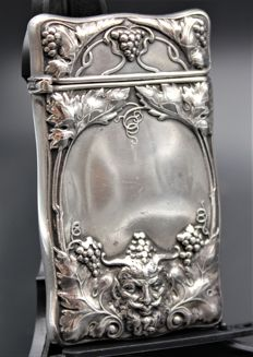 Bacchus God of Wine Sterling Silver Match Safe Vesta Case