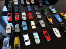 Solido - scale 1/43 - batch of 35 antique French cars from the years 1970s-1980s