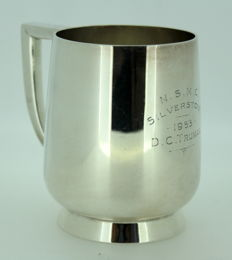 Vintage Silver Plate Tankard With Initials, C.1953