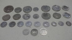 World - Lot of diverse coins 1846/1963 (26 pieces) including silver