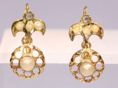 Antique gold earrings - circa 1900 - No Reserve Price