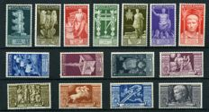 Italy, Kingdom, 1937 – Augustus – Complete series – Sass. No. 416/425 and A 106/110.