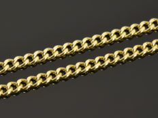 18k Gold Necklace. Chain. Length 45 cm. Weight 1.64 g