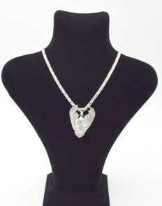 925 Italian sterling silver chain with Eagle pendant - 60 cm