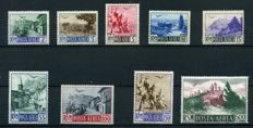 San Marino – 1926/58 – Selection of stamps with airmail and parcel post
