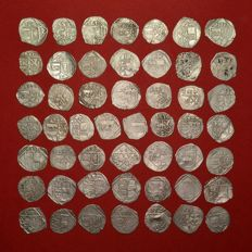 Holy Roman Empire - Lot of 50 Silver Wiener Pfennig