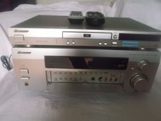 Pioneer strong amplifier 280 watt type VSX-D811S-S and pioneer dvd player DV 454 type with remote controls