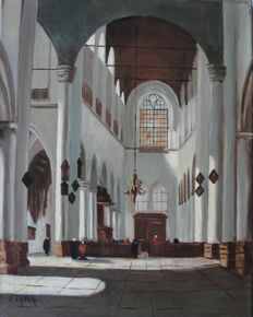 W. Eynar (20th century) - Kerkinterieur