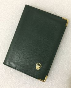 ROLEX--90s --Original classic Green passport holder--