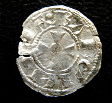 Spain - County of Barcelona - Pedro I, 1196-1213 - Billon coin minted in Barcelona - Scarce