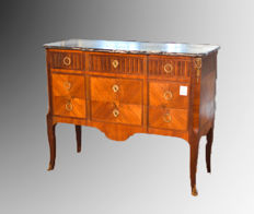 Bois de rose and rosewood commode - Napoleon III - France - ca. 1880