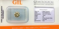 1.00 ct - Natural Diamond - N.Fancy Greenish Yellow, SI-2 -  *NO RESERVE*